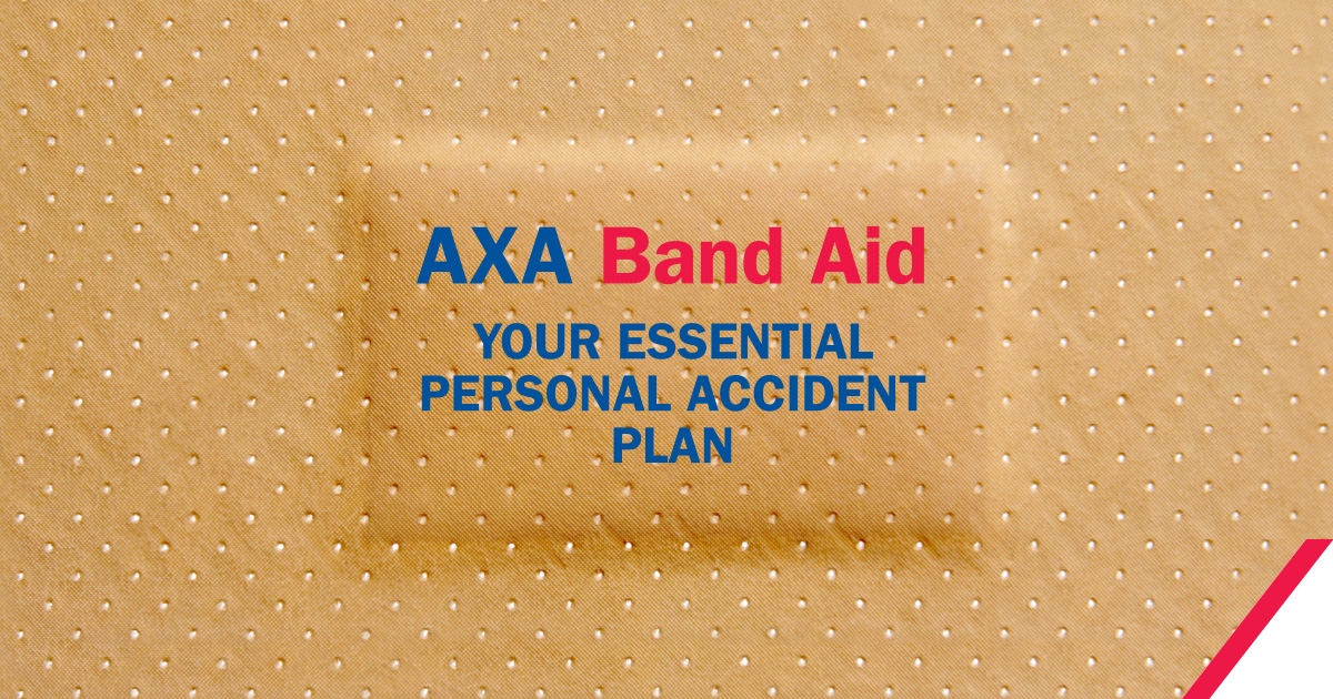 axa band aid personal accident insurance